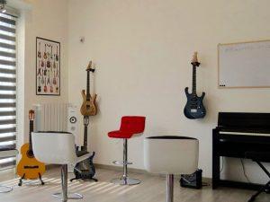 Un immagine dello studio di Bresso dove ti verranno impartite le lezioni di chitarra